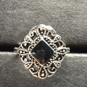 New Black & Silver Ring